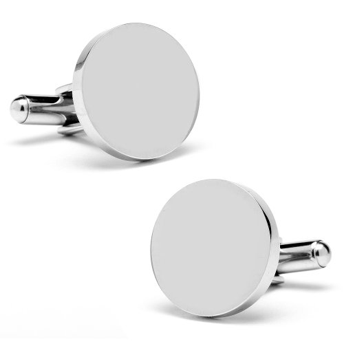 Ox And Bull Stainless Steel Round Infinity Cufflinks (Ob-309-Stl)