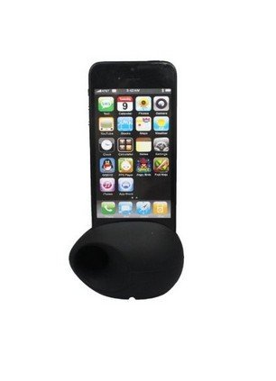 Noarks ® Silicone Horn Stand Holder Audio Dock Amplifier Music Speaker For Iphone 5 5S (Black Egg)