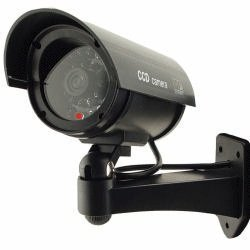 Best Buy! Outdoor Waterproof Fake / Dummy Security Camera with Blinking Light (Black)