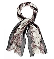 M&S Collection Lightweight Star & Paisley Print Scarf