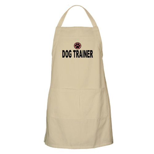 Cafepress Dog Trainer Pink Stripes BBQ Apron - Standard
