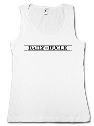DAILY BUGLE VINTAGE LOGO DONNA TOP - giornale Spider Cartoon Peter journal Newspaper USA Man Parker Taglie S - XL
