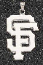 San Francisco Giants Giant 1 1 4 W x 1 3 4 H SF Pendant - 14KT Gold Jewelry by Logo Art