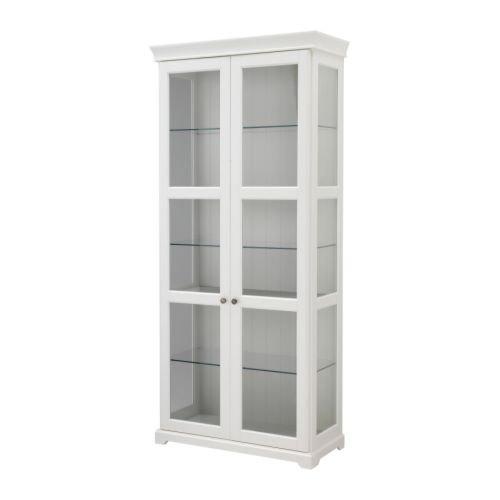 IKEA(イケア) LIATORP ガラス扉キャビネット, ホワイト (60268878)