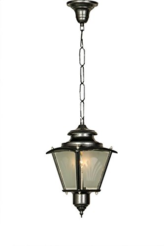 Fos Lighting Classic Silver Grey Outdoor Lantern Light