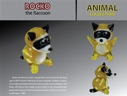 Looking Glass Rocco The Racoon Torch Sculpture