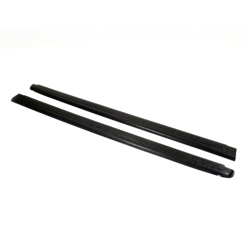 Wade 72-00151 Black Ribbed Finish Truck Bed Rail Caps Without Stake Holes - 2 Piece front-157474