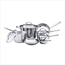 KitchenAid 71462 Gourmet Distinctions Stainless 10-Piece Cookware Set
