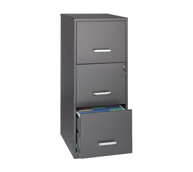 OfficeMax Three-Drawer Vertical File, 18