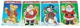 Eros AM12-098175 Christmas Santa and Snowman Clings Case of 96