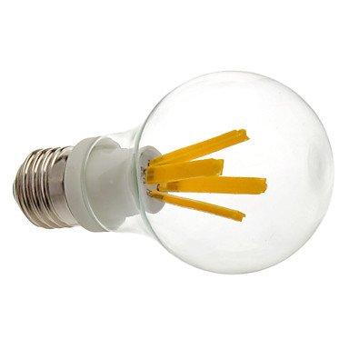 M.M E27 4W 3000 Warm White Light Led Transparent Globe Bulb (230V)
