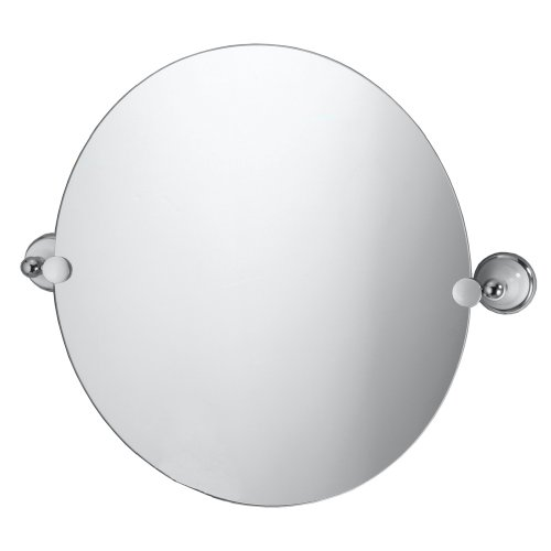 Gatco 5768 Franciscan Round Wall Mirror, Chrome front-1033122