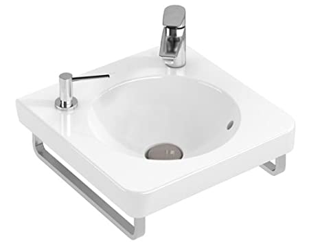 Villeroy & Boch Joyce Washbasin Tap Hole with Overflow White Alpin 530547 450 mm without, 53054701