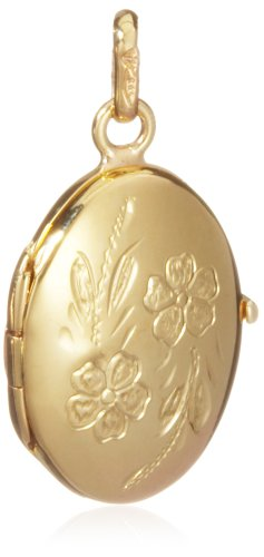 Daisy Locket Pendant, 9ct Yellow Gold (Pendant Only)