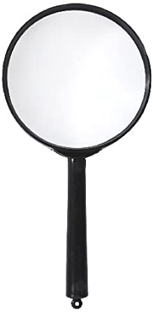 "American Educational Plastic Frame Magnifier with Black Handle, 1.5X Magnification, 3"" Diameter (Bundle of 10)"