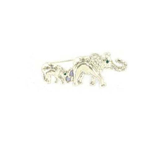 Fashion Trendy Elephant Brooch Silver #015338