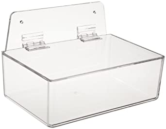 "Brady PD206A 3"" Height, 9"" Width, 6"" Depth, Acrylic, Clear Dispenser Tray With Lid, With 6"" Height, Backplate"