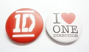 "Set of 2, 1.25"" 1D ONE DIRECTION Music #2 Button Badge Pin Pinback brooch"
