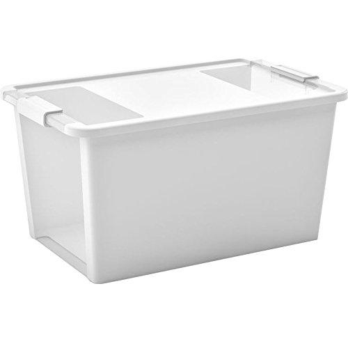 Kis 8454000 0432 01 Bi Box-Scatola portaoggetti in plastica, 40 litri, colore: bianco/trasparente