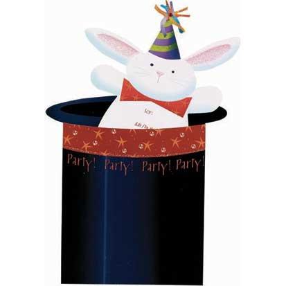 Abracadabra Jumbo Invitations 8ct