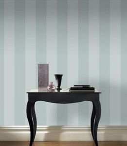 Rasch Glitter Stripe Wallpaper - Duck Egg from New A-Brend