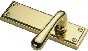 Durham Long Lever Latch Door Handle - Polished Br by New A-Brend