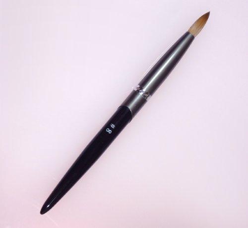 密毛 高級アクリル用 コリンスキーブラシ ラウンド スカルプ筆 オール金属製の柄