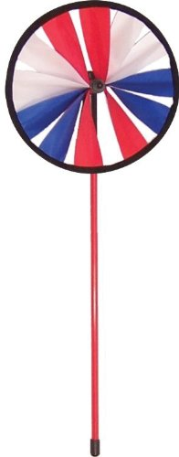 In the Breeze Single Wheel Patriotic Spinner, 8-Inch