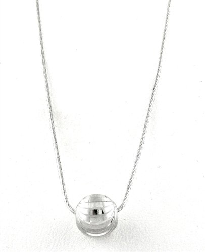 Officina Bernardi Silver Moon Ball Pendant