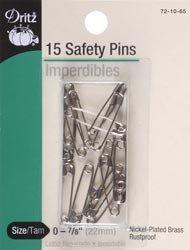 Dritz Safety Pins Size 0 14/Pkg 72-65-0; 6 Items/Order