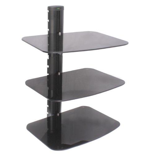 US Brown Bear DS-B3-Blk Three Shelf AV Component Wall Mount (Black)