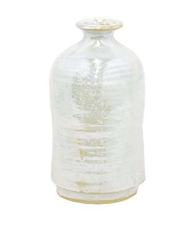 Three Hands Ceramic White Vase