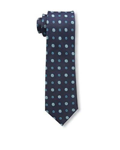 Ben Sherman Men's Buckland Medallion Tie, Blue
