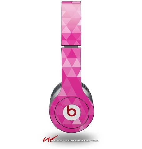 Triangle Mosaic Fuchsia Decal Style Skin (Fits Genuine Beats Solo Hd Headphones - Headphones Not Included)