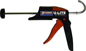 Newborn U-Lite Non-Drip Super Smooth Rod Frameless Caulking Gun, 1/10 Gallon Cartridge, 10:1 Thrust Ratio