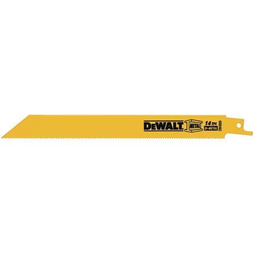 DEWALT DW4809B 8-Inch 14 TPI Straight Back Bi-Metal Reciprocating Saw Blade (100-Pack)