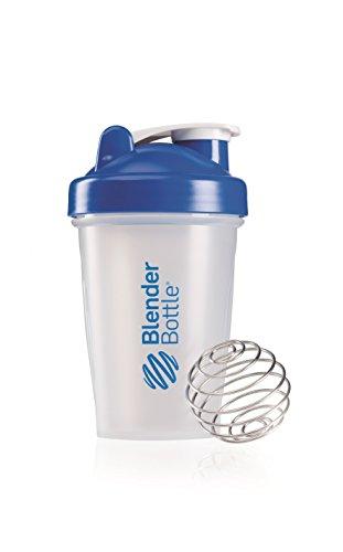 BlenderBottle Classic Shaker Bottle, Clear/Blue, 20-Ounce