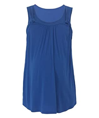 Maternity Blue Side Knot Nursing Vest