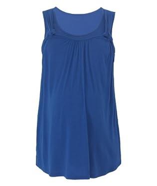 Maternity Blue Side Knot Nursing Vest