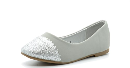 Dream Pairs NINA Casual Slip On Glitter Toe Cap Ballerina Fl