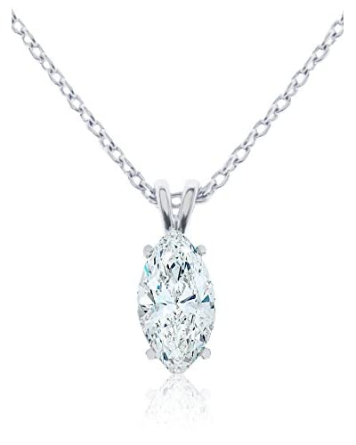 Diamond Style Set laccio e pendente Marquise