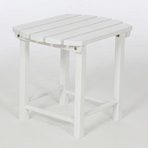 Adirondack Sidetable Tisch Holz Weiß Gartenmöbel Gartentisch Terrasse B-Ware ! jetzt kaufen