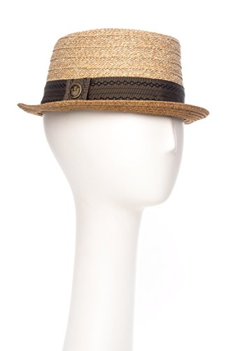 Unisex De La Reina Straw Pork Pie Hat