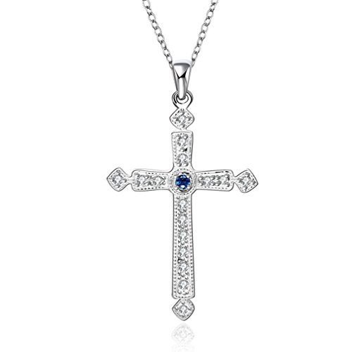 hmilydyk-fashion-cross-blue-crystal-925-silver-jewellery-necklace
