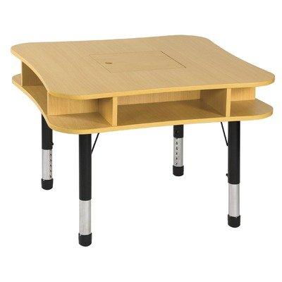36 media center table in maple edge banding maple leg for Center table legs
