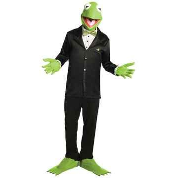 The Muppets Kermit Halloween Costume - Adult Size Small
