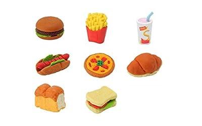 イワコー おもしろ 消しゴム ハンバーガー セット けしごむ (8個入り)