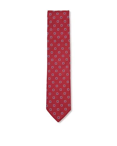 Ermenegildo Zegna Men's Squares Silk Tie, Red