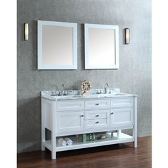 Unique Ariel Bath SCMAYSWH by SeaCliff Designs Bathroom Vanity Mayfield Double Sink w Mirror Alpine White