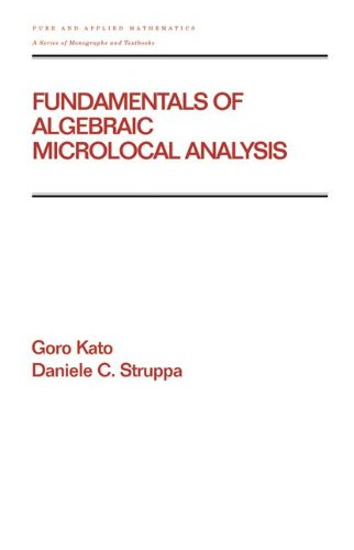 Fundamentals of Algebraic Microlocal Analysis (Chapman & Hall/CRC Pure and Applied Mathematics)